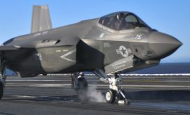 F35C launch on USS Nimitz