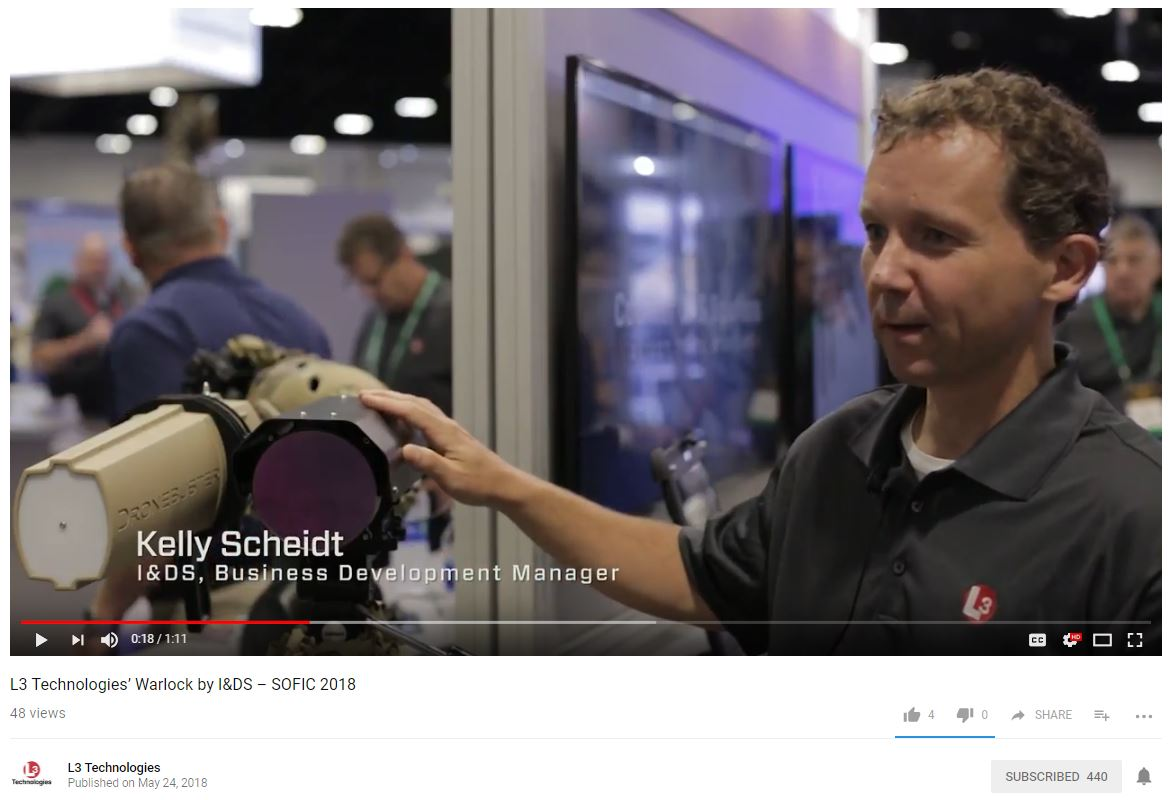 VIDEO: L3 Technologies' Warlock by I&DS – SOFIC 2018 – GovCon Wire