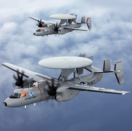 northrop gets 404m modification on e 2d aircraft production contract.