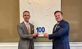 Jim Garrettson Presents Andrew Hallman His 2020 Wash100 Award
