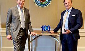 DON CIO Aaron Weis Receives Wash100 Award From Jim Garrettson