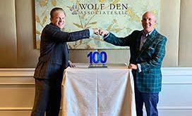 Executive Mosaic CEO Jim Garrettson (L) and Wolf Den Co-Founder Kevin Robbins (R)