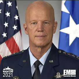 Gen. John Raymond, US Space Force's Chief of Space Operations, Named to 2021 Wash100 for Driving Digital Strategies & Modernization Priorities