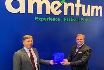 Amentum CEO John Vollmer Receives Sixth Wash100 Award From Executive Mosaic CEO Jim Garrettson