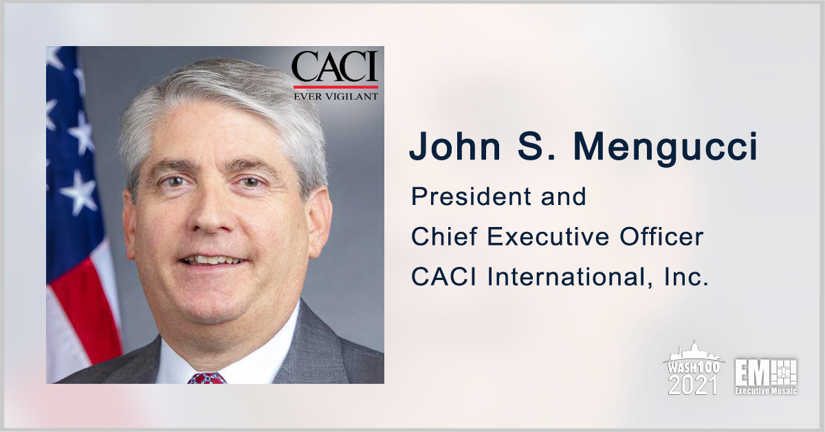 CACI to Continue Army Cybersecurity Support Under $82M Contract; John Mengucci Quoted