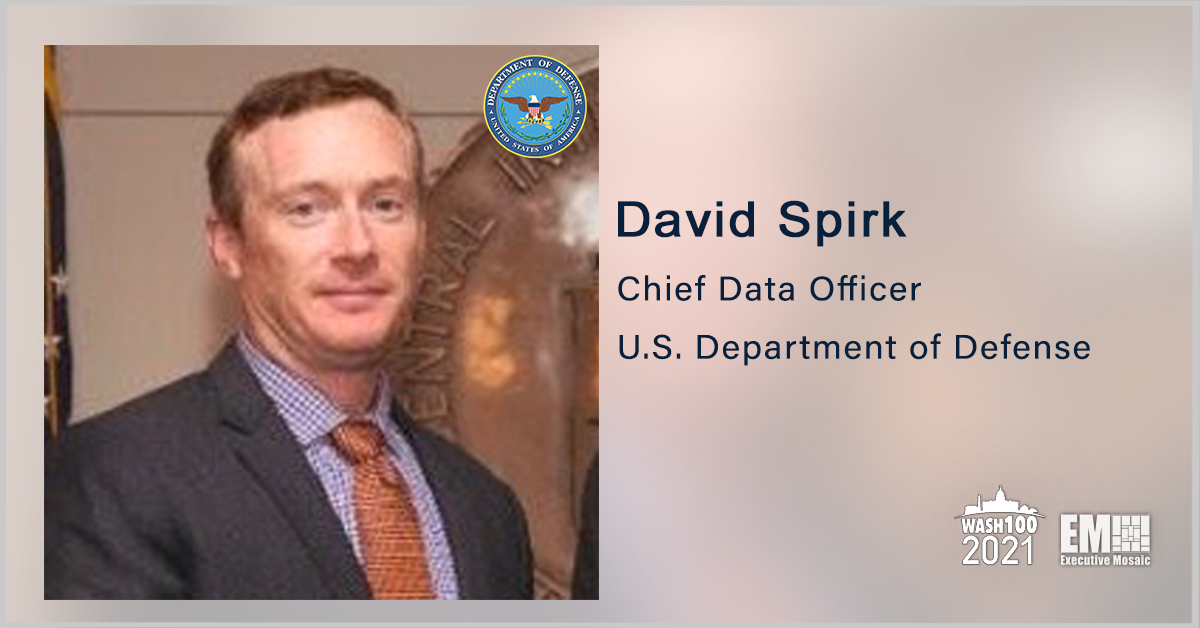 DOD Chief Data Officer David Spirk Discusses U.S. Data Strategy, Implementation & Innovation During GovCon Wire Events' Data Innovation Forum