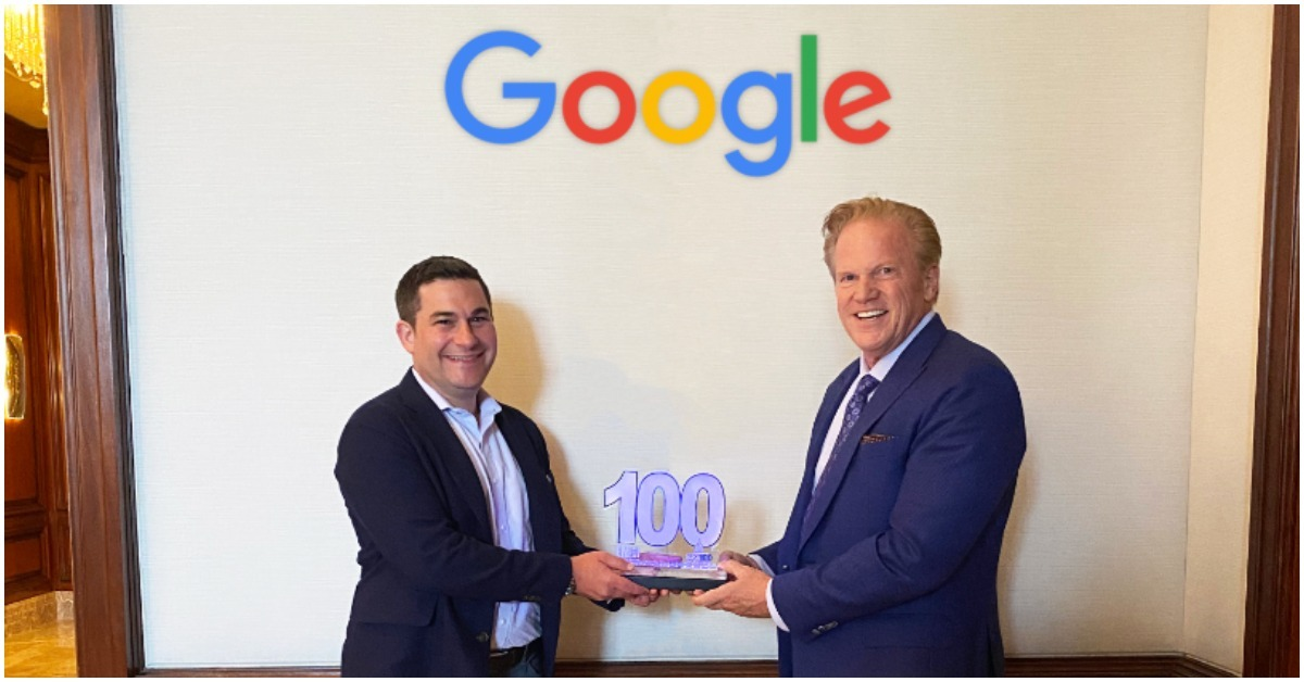 Joshua Marcuse, Head of Strategy and Innovation for Google Global Public Sector, Presented Second Consecutive Wash100 Award By Executive Mosaic CEO Jim Garrettson